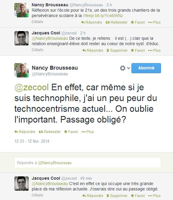 Conversation avec Nancy Brousseau